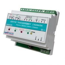 Ν602R-230v 2Ch KEYRING REMOTE CONTROL RAIL-MOUNTED