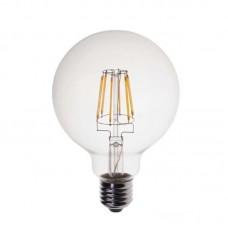 BULB LED GLOBE FILAMENT G125 6W Ε27 2700K 240V