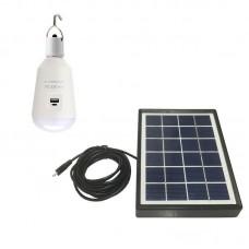 LED BULB 7W E27 WITH SOLAR PANEL