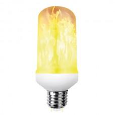 Λάμπα LED flame E27 Τ60 ισχύος 5W 100-240V θερμό λευκό φως 1500K διάρκειας 25000h