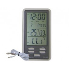 DIGITAL THERMOMETER-HUMIDITY MONITOR WITH SENSOR DATE+CLOCK DC-802 CHR
