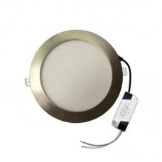 DOWN LIGHT LED SLIM RECESSED WHITE Φ225 20W AC85-265V ΣΑΤΙΝΕ